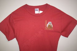 Adult Embossed Ghog T-Shirt Sku#1186-small Sku#1187-medium Sku#1188-large Sku#1189-xlarge