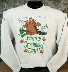 Adult Happy Groundhog Day Sweatshirt 2x, 3x