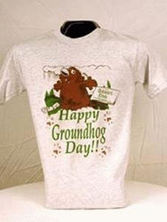 Adult Happy Groundhog Day T-Shirt 2x, 3x