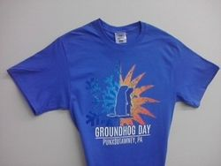 Adult Season Groundhog TShirt-Blue Sku#1320-small Sku#1321-medium Sku#1322-large Sku# 1323-xlarge