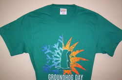 *Adult Season Groundhog TShirt -Jade Sku# 1325-small Sku# 1326-medium Sku# 1327-large Sku# 1328-xlarge