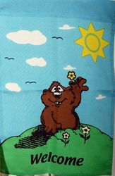 Groundhog Welcome Garden Flag Sku# 306
