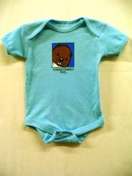Infant Baby Phil Onesie Short Sleeve-Blue Sku# 54- 3 mos, Sku # 55- 6 mos. Sku# 56- 12mos, Sku# 57- 18 mos.