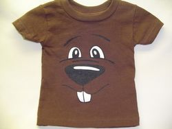 Infant Groundhog Face T-Shirt Sku# 779-6 mos. Sku# 780- 12 mos. Sku# 781- 18 mos