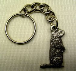 Pewter Groundhog Key Chain Sku# 239