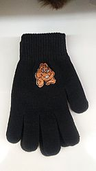 Punxsutawney Phil Gloves-Black