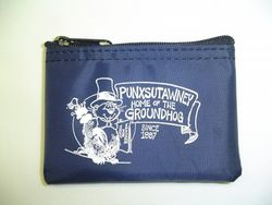 Punxsutawney Phil Zipper Coin Purse-Navy Sku# 281
