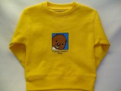 Toddler College Kids Baby Phil Sweatshirt - Yellow Sku# 43- 2T Sku# 44 - 4T Sku#45- 5/6