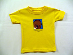 Toddler College Kids Baby Phil T-Shirt-Yellow Sku#29-2T Sku#30-3T Sku#31-4T Sku#32- 5/6