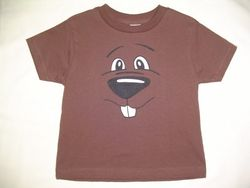 Toddler Groundhog Face T-Shirt Sku#782-2T Sku#783-3T Sku# 784-4T Sku#785-5/6