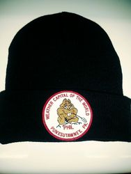 Weather Capital of the World Knit Cap-Black