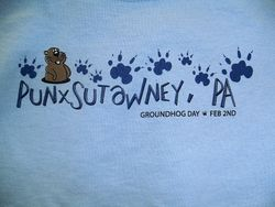 Youth Groundhog Paw T-Shirt-Blue