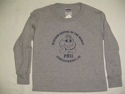 Youth Weather Capital of the World Long Sleeve-Gray Sku#582-small 6-8 Sku#583-medium 10-12 Sku#584-large 14-16