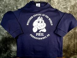 Youth Weather Capital of the World Sweatshirt Sku#585-small 6-8 Sku#586-medium 10-12 Sku#587-large 14-16