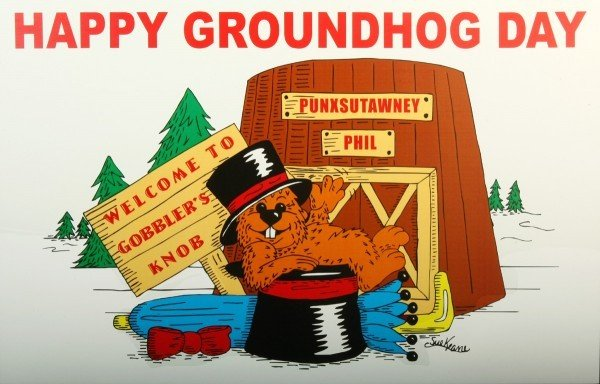 Happy Groundhog Day Poster (Full-color )