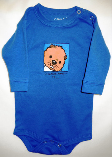 Infant Baby Phil Onesie Long Sleeved-Blue