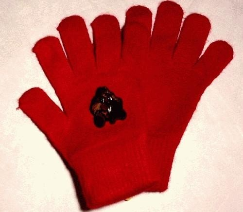 Punxsutawney Phil Gloves-Red
