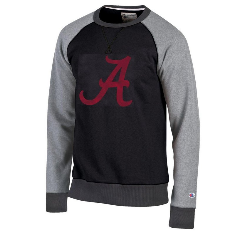 Alabama Crimson Tide Crewneck Sweatshirt Black APC02790216
