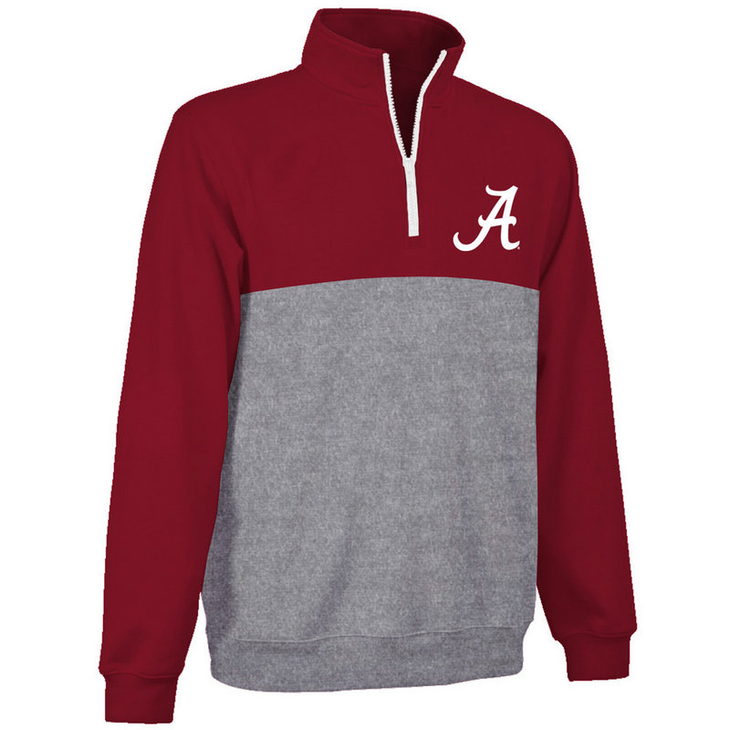 Alabama Crimson Tide Poly Quarter Zip Sweatshirt ALA9P667