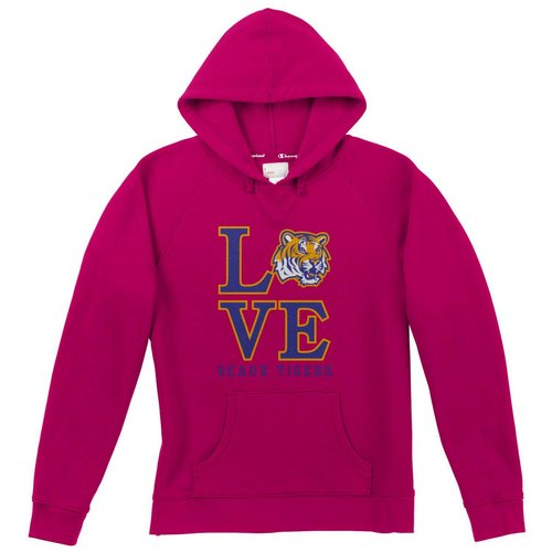 Champion LSU Tigers Love Geaux Tigers Womens Hooded Sweatshirt 4511592 (Champion)