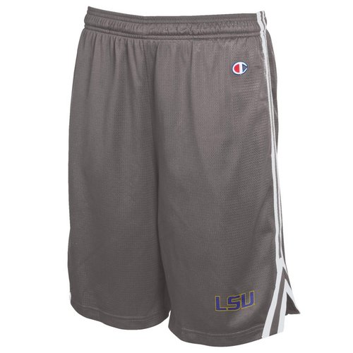 Champion LSU Tigers Mens Mesh Shorts Charcoal 4511600 (Champion)