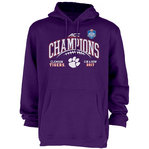 Clemson Tigers ACC Champs Hooded Sweatshirt 2017 Purple GILT ACC17 FOOT CHAMP-CLM