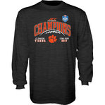 Clemson Tigers ACC Champs Long Sleeve Tshirt 2017 Charcoal GILT ACC17 FOOT CHAMP-CLM