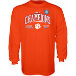 Clemson Tigers ACC Champs Long Sleeve Tshirt 2017 Orange GILT ACC17 FOOT CHAMP-CLM