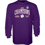 Clemson Tigers ACC Champs Long Sleeve Tshirt 2017 Purple GILT ACC17 FOOT CHAMP-CLM