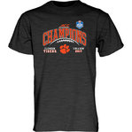 Clemson Tigers ACC Champs Tshirt 2017 Charcoal GILT ACC17 FOOT CHAMP-CLM