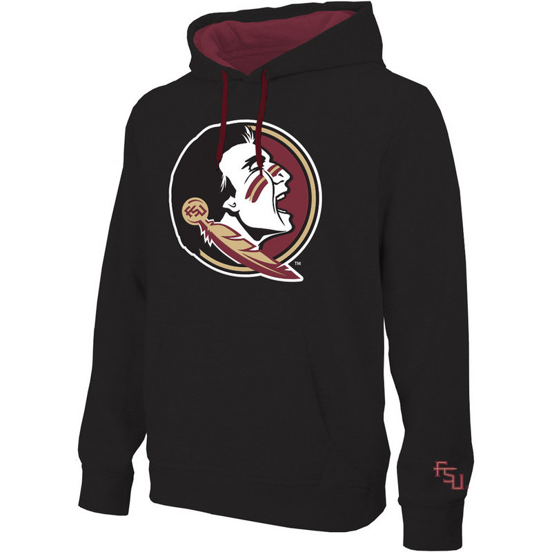 Florida State Seminoles Twill Hooded Sweatshirt Black Icon FSU28417