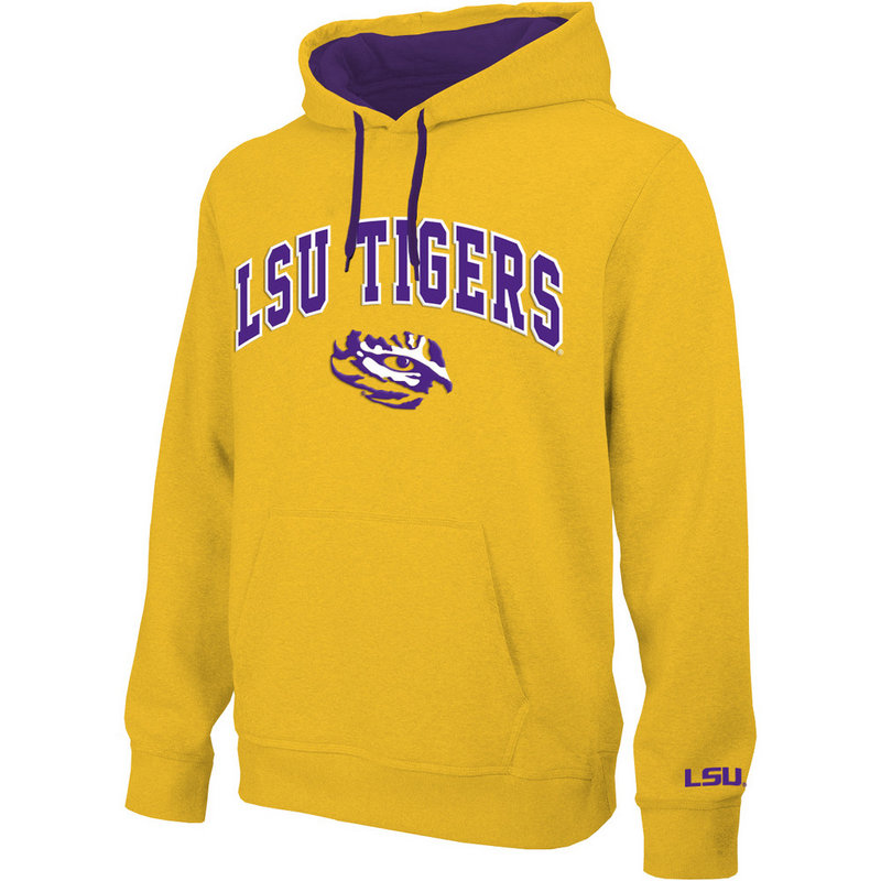 LSU Tigers Hooded Sweatshirt Arch Gold LSU28354