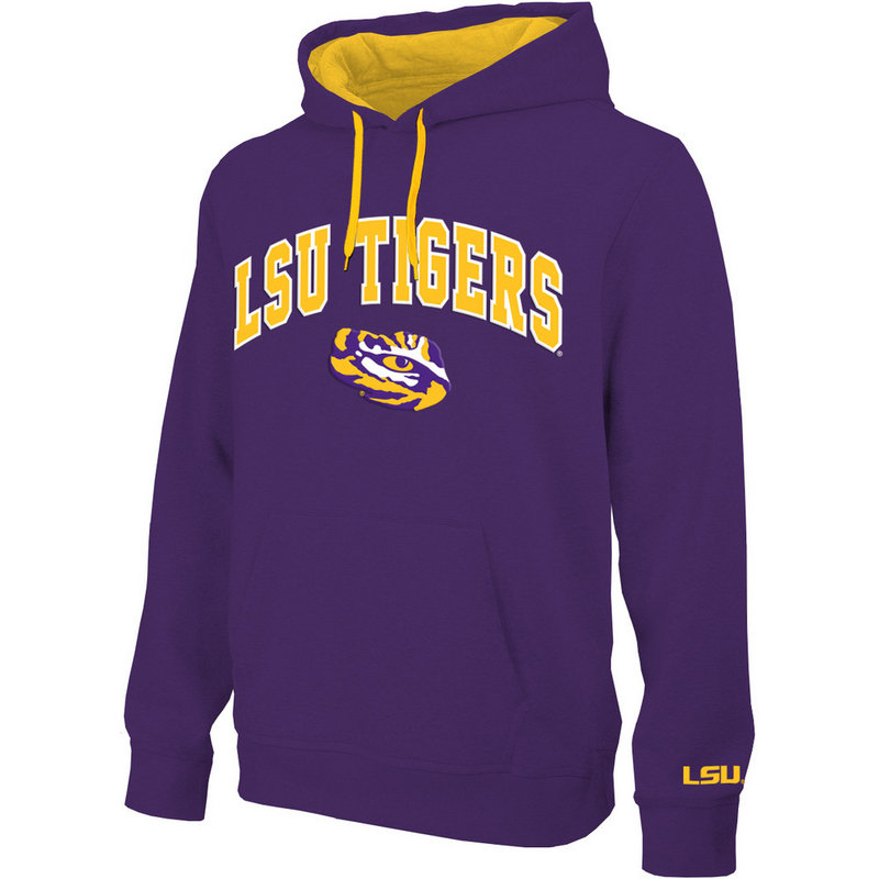 LSU Tigers Hooded Sweatshirt Arch Purple LSU28354
