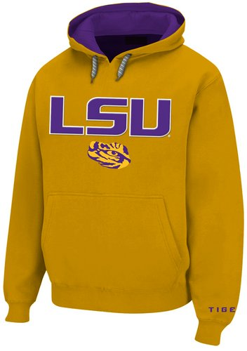 LSU Tigers Mens Twill Hooded Sweatshirt Gold LSU28152