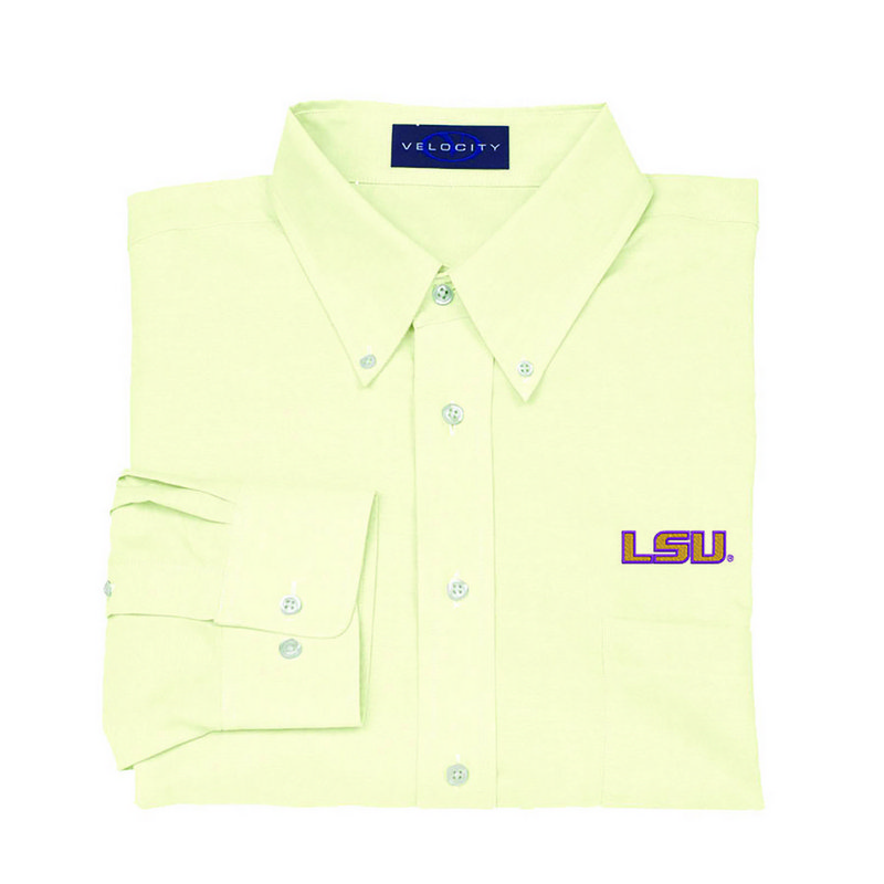 LSU Tigers Oxford Shirt Yellow 1210