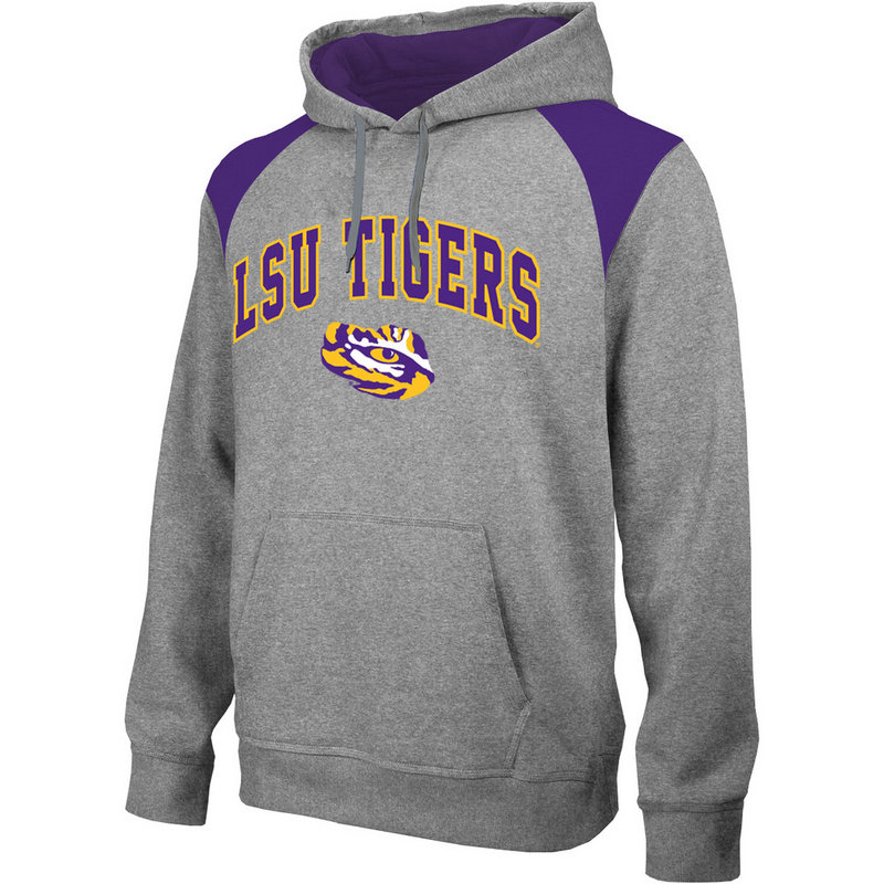 LSU Tigers Performance Hooded Sweatshirt Gray LSU4P692