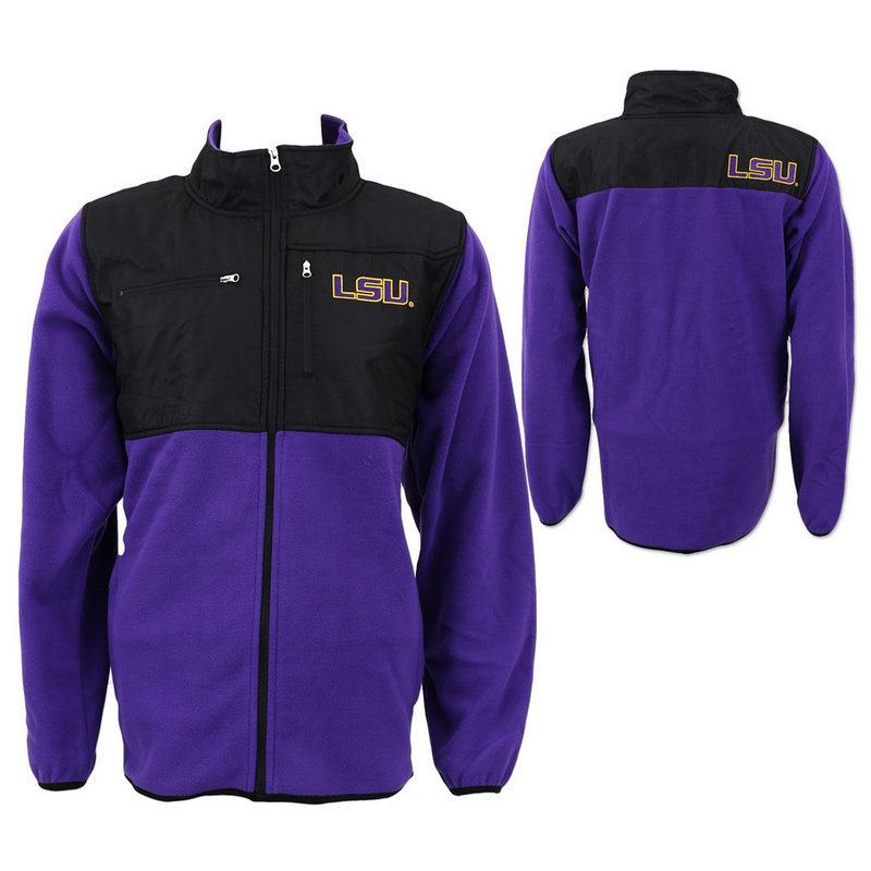 LSU Tigers Purple and Black Full Zip Fleece
