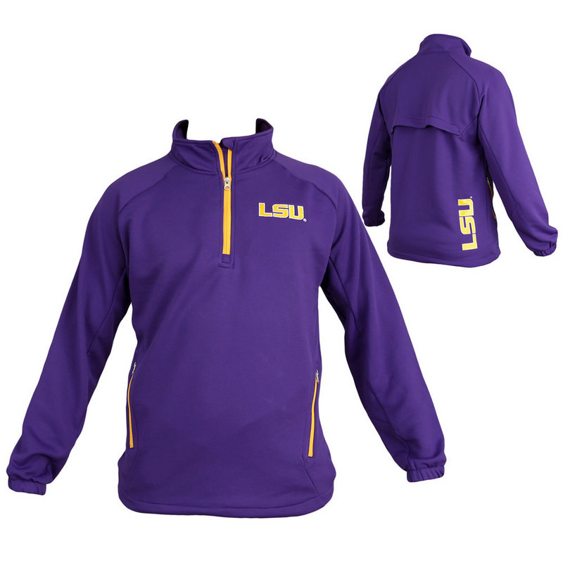 LSU Tigers Quarter Zip Performance Sweatshirt Aviator