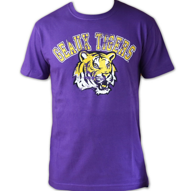 LSU Tigers Tshirt Purple Vintage Geaux Tigers