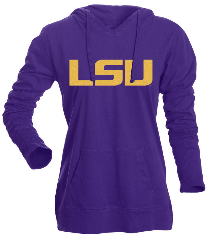 LSU Tigers Women's Hooded VNeck Purple 266590