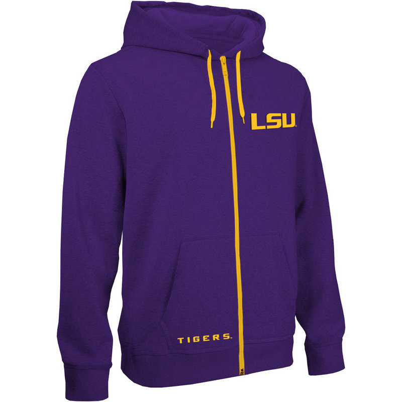 LSU Tigers Zip Up Hooded Sweatshirt Purple LSU29704