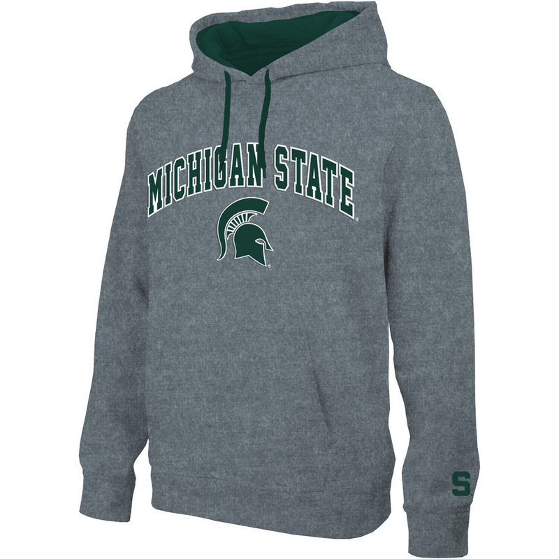 Michigan State Spartans Hooded Sweatshirt Arch Gray MCT28354