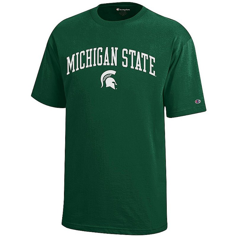 Michigan State Spartans Youth Kids TShirt Arch Green APC03008682