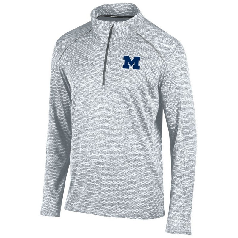 Michigan Wolverines Quarter Zip Shirt Heather Gray APC02291557