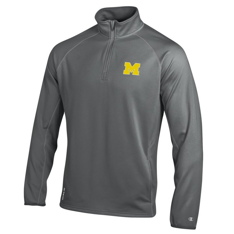 Michigan Wolverines Quarter Zip Sweatshirt APC02291557
