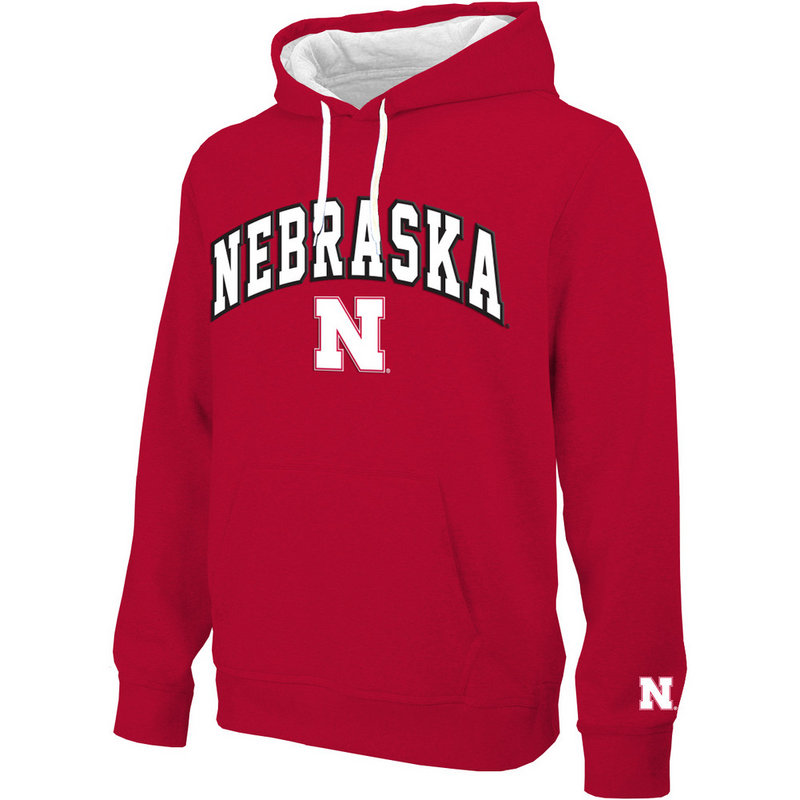 Nebraska Cornhuskers Hooded Sweatshirt Arch Red NEB28354