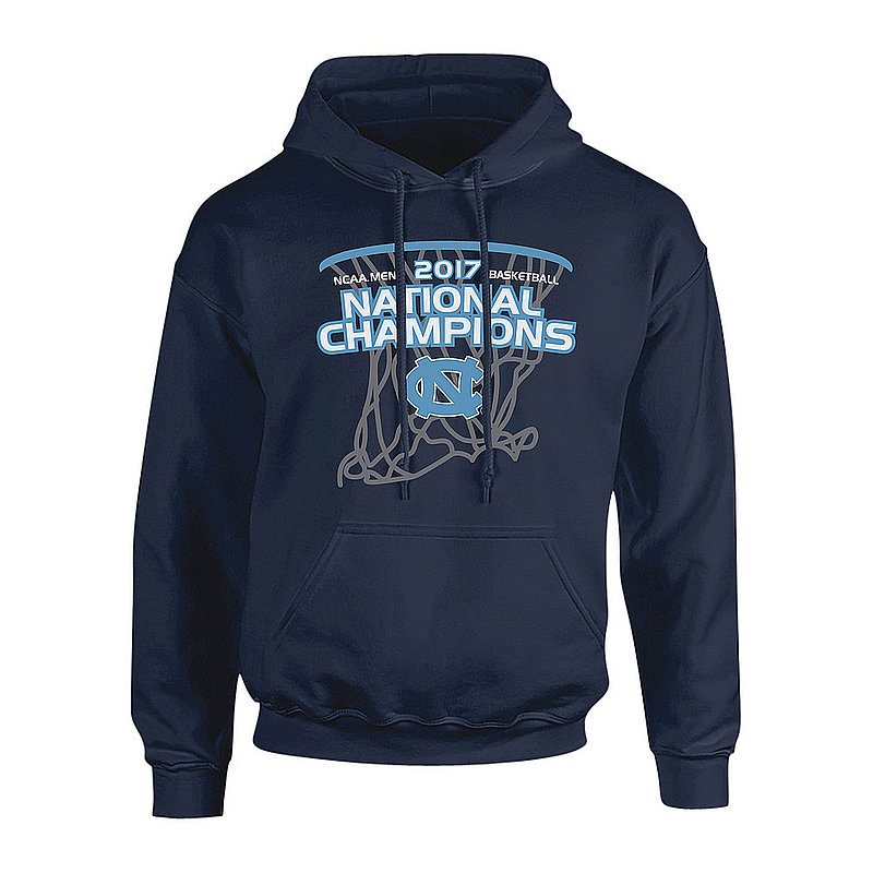 North Carolina Tar Heels 2017 National Basketball Champs Hooded Sweatshirt Navy P0007672