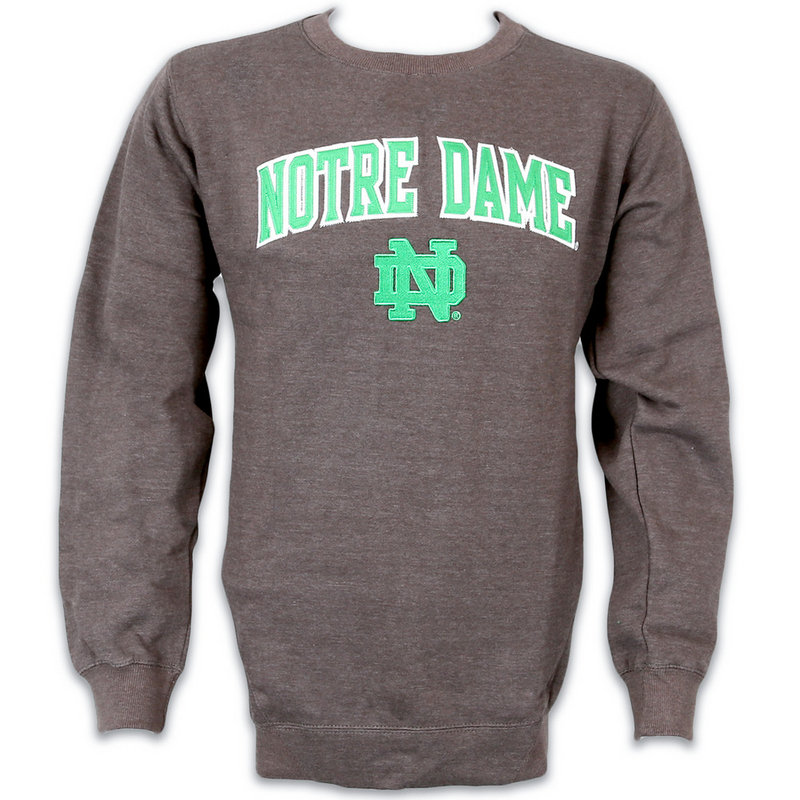 Notre Dame Fighting Irish Crew Sweatshirt Charcoal 70N7H