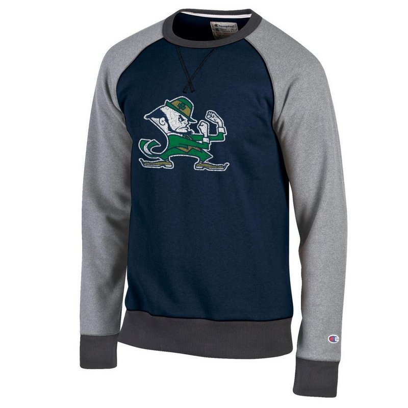 Notre Dame Fighting Irish Crewneck Sweatshirt Navy APC02790147