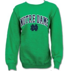 Notre Dame Fighting Irish Fleece Crew Sweatshirt Green KA 702IC 97